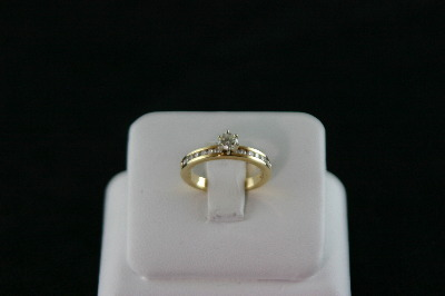 14KT Y/G Diamond 0.30 ct -Round Diamond 0.26ct G-SI2 Ring