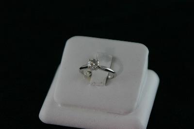 14KT White Gold Round Diamond 0.52ct Solitaire