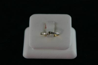 14KT Y/G Chann14el Set Diamond 0.30ct Curved Band