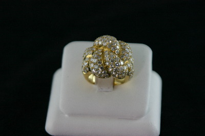 18Kt Y/G Pave' Diamond 7.25ct Design Ring 15.9gr