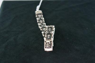 Silver Skull Bracelet 96.40gr