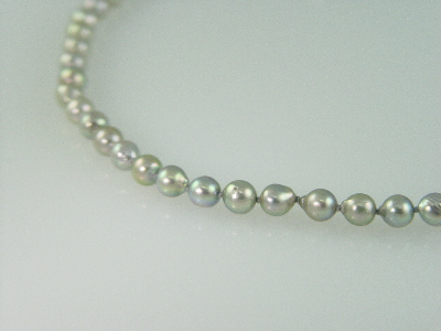 "26"" 7.5mm Grey Baroque Pearl Necklace"
