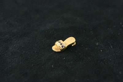 14KT Sapphire 0.18ct Sandel Pendant