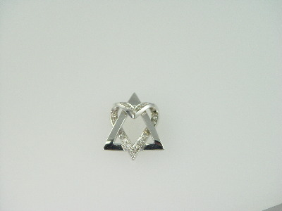 14KT White Gold Star Heart Diamond 0.40ct Pendant