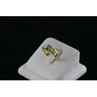 14KT Y/G Princess Cut Diamond 0.50ct Marquise diamonds 0.21ct Ring