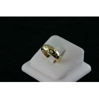 14KT Y/G Flush Set Diamond Band, 0.35ct - 7.8gr