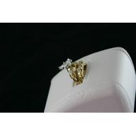 14KT Y/G Pear Shape Diamond 1.77ct H-I1- Baguette Diamonds 0.80ct Ring