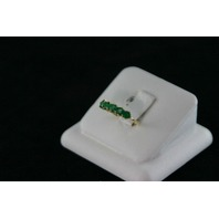 14KT Y/G Emerald Band, 1.00ct. 2.3gr
