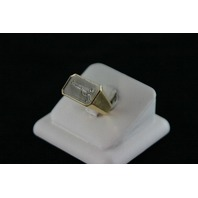 14KT Y/G Diamond Baguette 0.70ct Gun Ring - 15.1gr