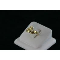 14KT Y/G Claddish Ring 3.6gr