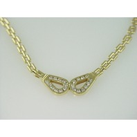 14KT Y/G Diamond 1.60ct Channel Set Necklace 25gr