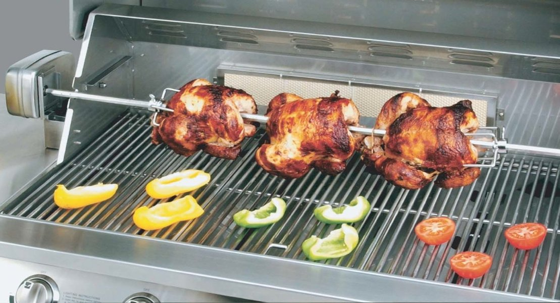 Good KitchenAid SS Rotisserie Kit Electric Barbecue Grill