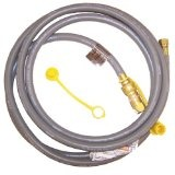 """3/8"""" 10 Ft Natural Gas Grill Hose w/Brass Connectors"""