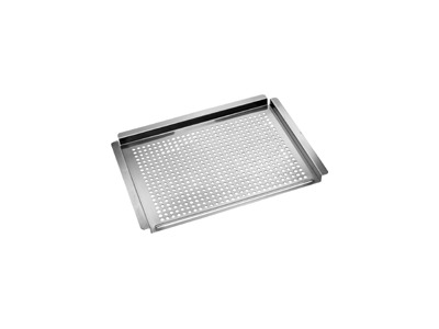 flat stainless steel topper