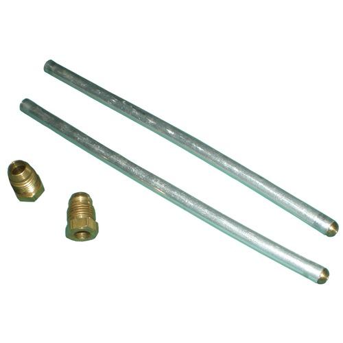 one pair aluminum plumbing tubes