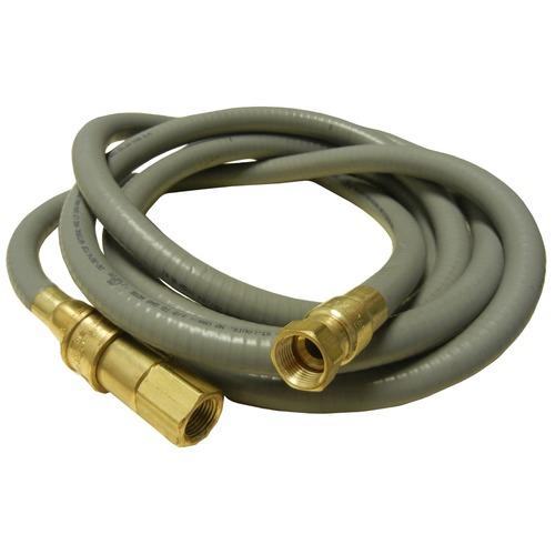 """12', 0.5"""" dia. natural gas hose"""