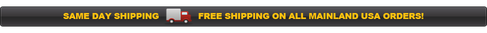Same Day Shipping, Free Shipping On All Mainland USA Orders!