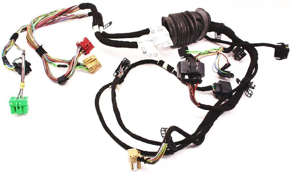 Driver front door wiring harness 02 04 audi a6 s6 rs6 c5 for 06 jetta driver door harness