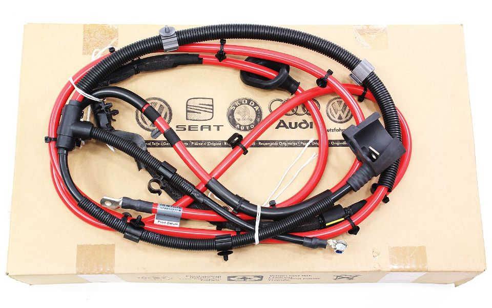 cp012954 positive battery cable harness 09 12 vw passat cc 36 vr6 genuine oe new 2 new trunk battery cable wiring harness 09 12 vw passat cc 3 6 b6 2010 vw cc trunk wire harness routing at panicattacktreatment.co