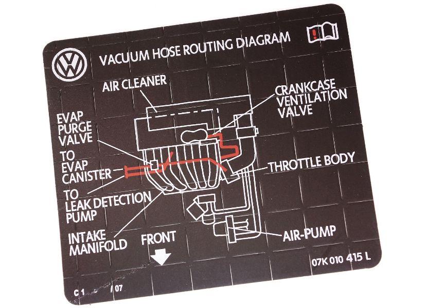 New Vacuum Hose Routing Diagram Sticker Vw Audi V6