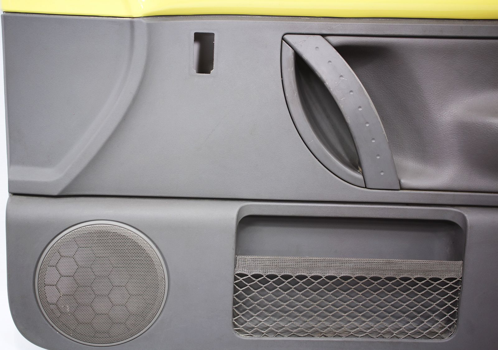 RH Front Door Panel 98 05 VW Beetle Interior Trim Yellow Gray Leather OE