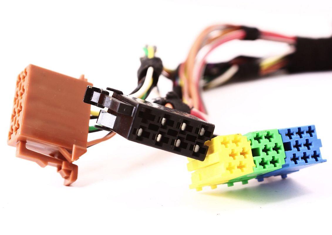 radio head unit plugs wiring pigtail vw jetta golf gti mk4 ... mk4 jetta radio wiring #2