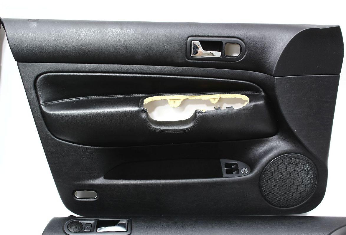 door panel set vw jetta mk sedan black leather panels genuine oe volkswagen ebay