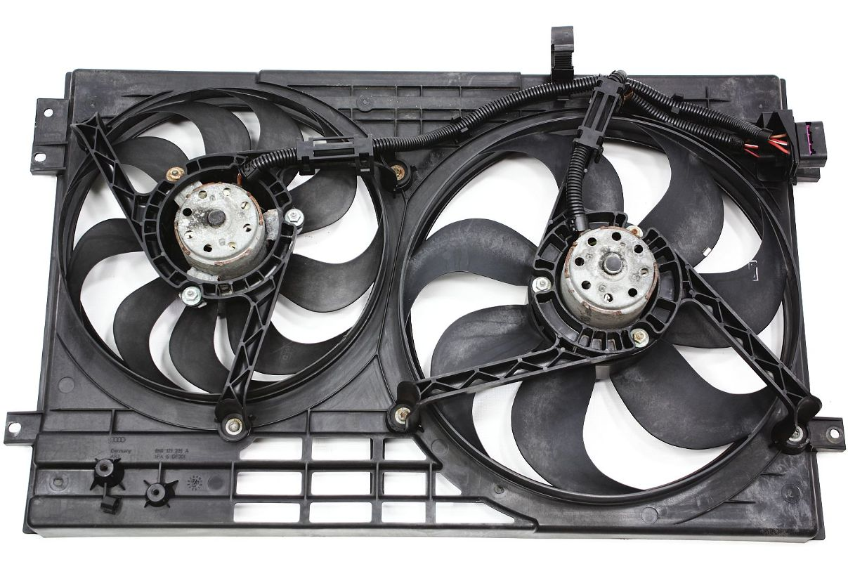 engine cooling fans 00 06 audi tt mk1 1 8t genuine. Black Bedroom Furniture Sets. Home Design Ideas