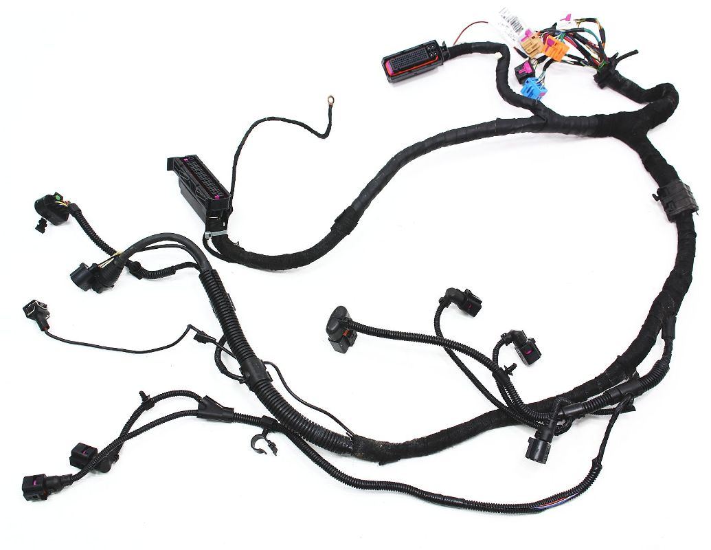ecu engine bay wiring harness vw beetle - 1.9 tdi ... wiring harness for 72 vw bug