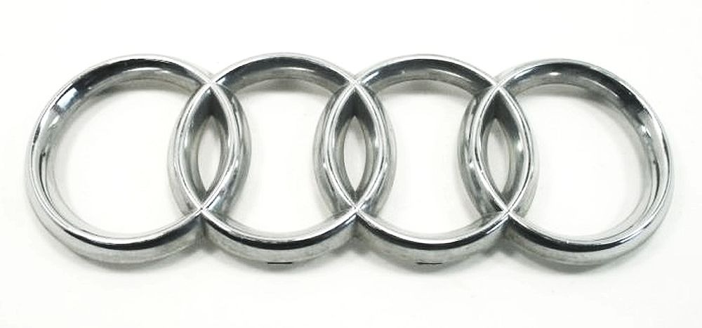 trunk lid 4 rings emblem badge audi a6 s6 rs6 c5 genuine oe 4b5 853 742 ebay. Black Bedroom Furniture Sets. Home Design Ideas
