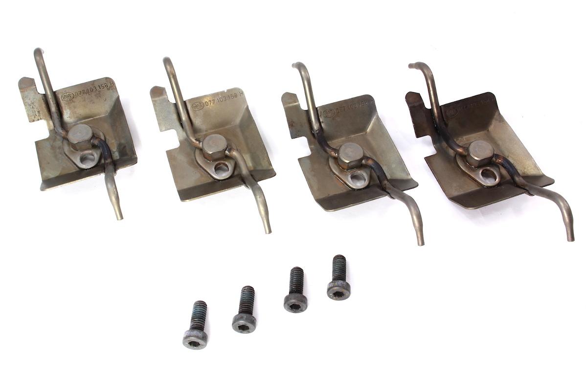 Set of 4 Piston Oil Squirters Audi A6 A8 VW Phaeton - 4.2 V8 - 077 103 158 H