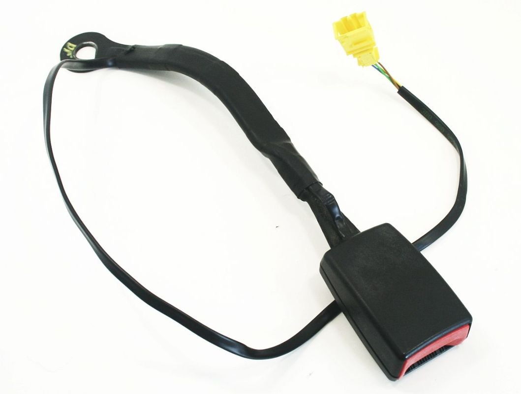 LH Driver Front Seat Belt Receiver 01-05 VW Passat - Black - 3B0 858 471 K
