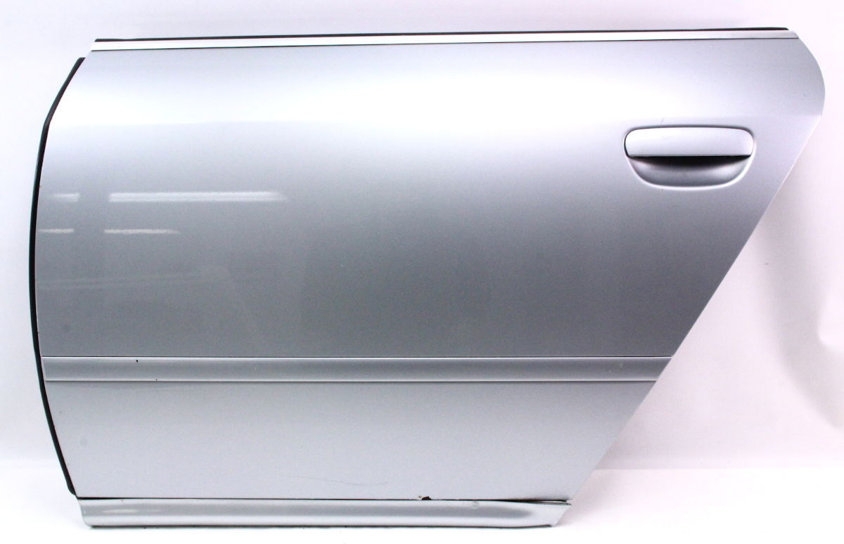 Lh rear door shell 98 01 audi a6 ly7m aluminum silver for Back door with window that opens