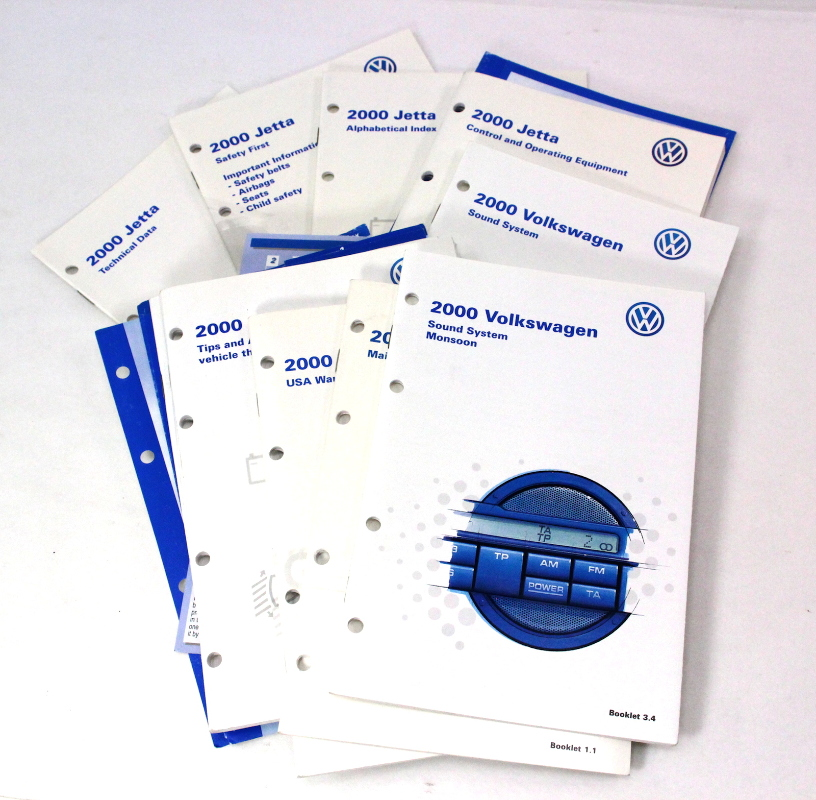 volkswagen owners manual booklet info packet set  vw