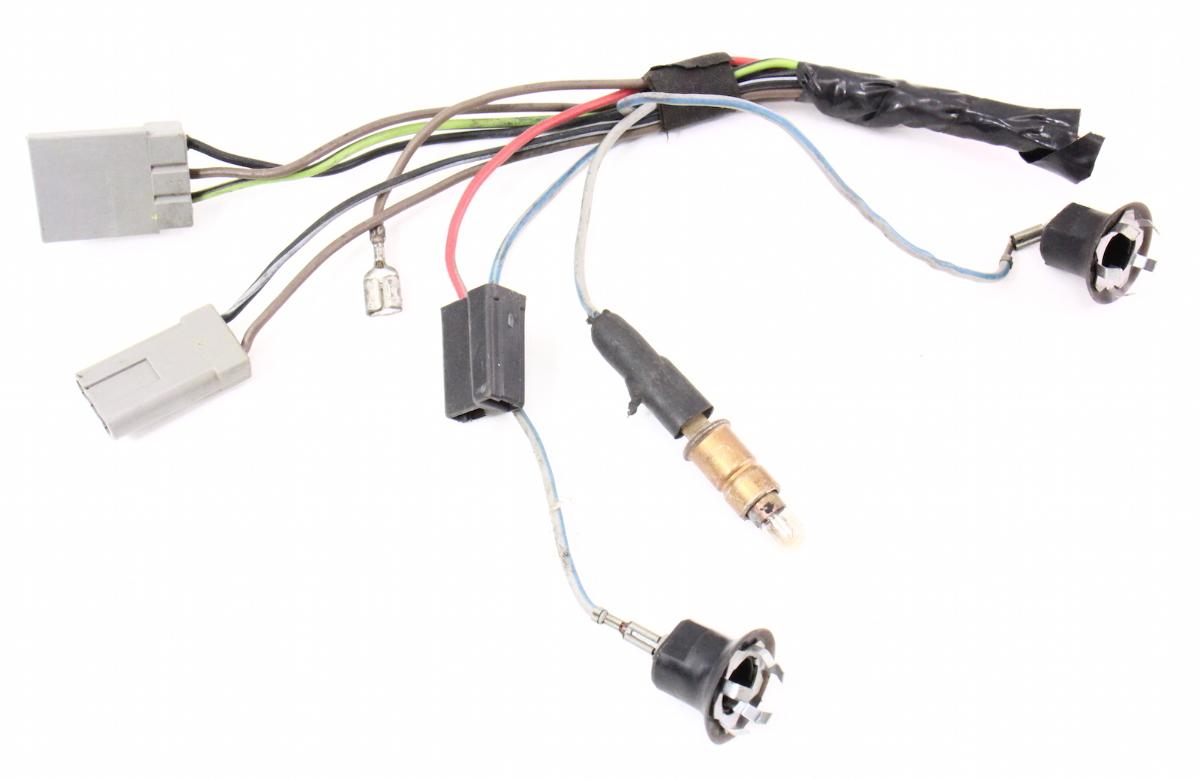 center console gauges wiring harness pigtails 75 84 vw rabbit gti mk1 carparts4sale inc