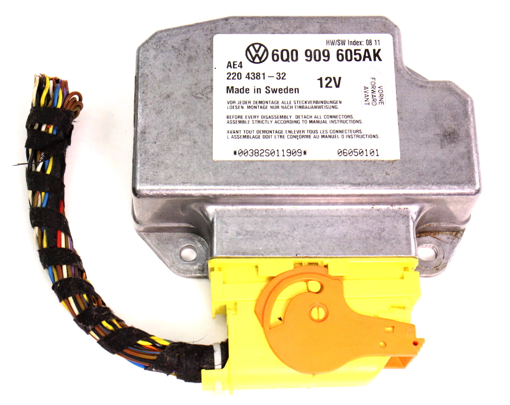Airbag Control Computer Module 05-10 Vw Beetle