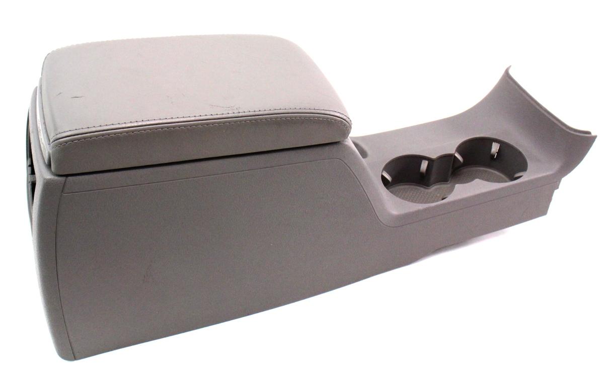 leather center console armrest 01 05 vw passat b5 5 arm rest grey arm rest ebay. Black Bedroom Furniture Sets. Home Design Ideas