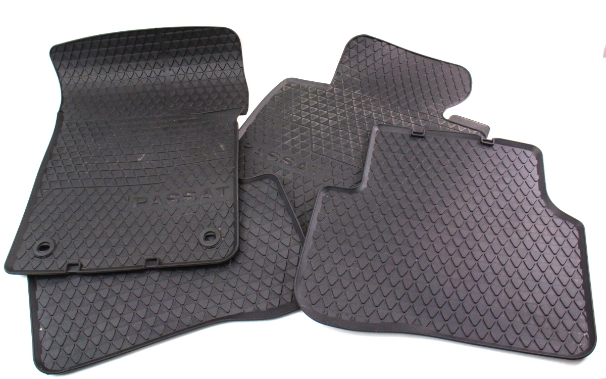 Rubber floor mats vw passat - Rubber All Weather Floor Mats 06 10 Vw Passat B6 Genuine 3c1 061 501