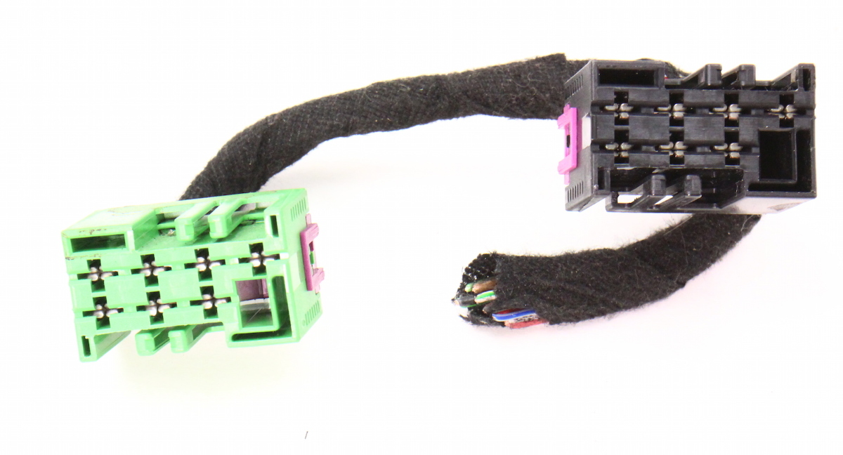 rear heated seat wiring harness pigtail 02 05 audi a4 s4 b6 genuine ebay. Black Bedroom Furniture Sets. Home Design Ideas