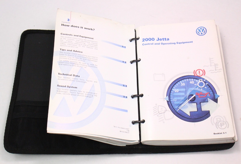volkswagen jetta owners manual book booklet vw mk