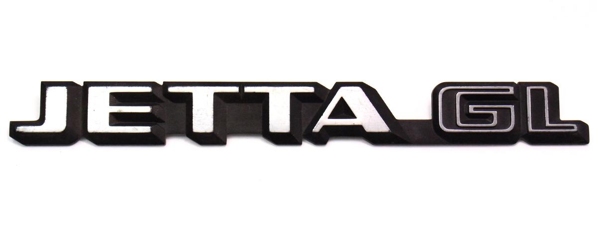 Trunk Emblem Rear Badge Logo 85-92 VW Jetta GL MK2 - Genuine - 165 853 687   CarParts4Sale, Inc.