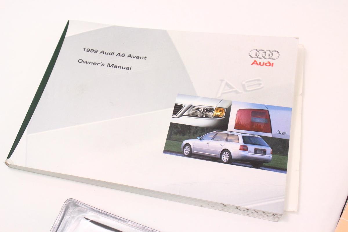 1999 audi a6 c5 avant wagon owners manual information books rh carparts4sale com 1999 Audi A6 Wagon 1999 Audi A6 Quattro Lowered