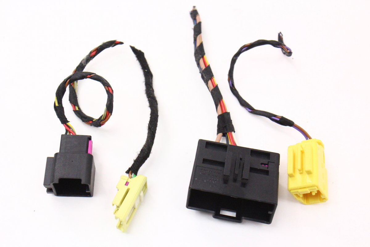 rh heated seat wiring harness pigtail plugs connectors 05 07 vw jetta golf mk5 carparts4sale inc