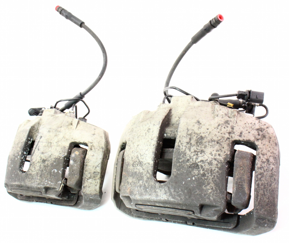 Front Big Brake Dual Piston Calipers & Carriers 04-06 VW