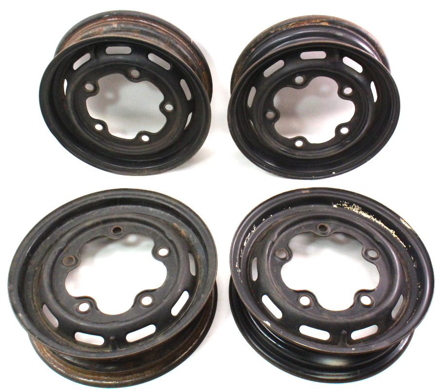 "Vw Bug Air Cooled Wheels: 4 X 15"" Steel Wheel Wide 5 Rim Set VW Beetle Bug Aircooled"