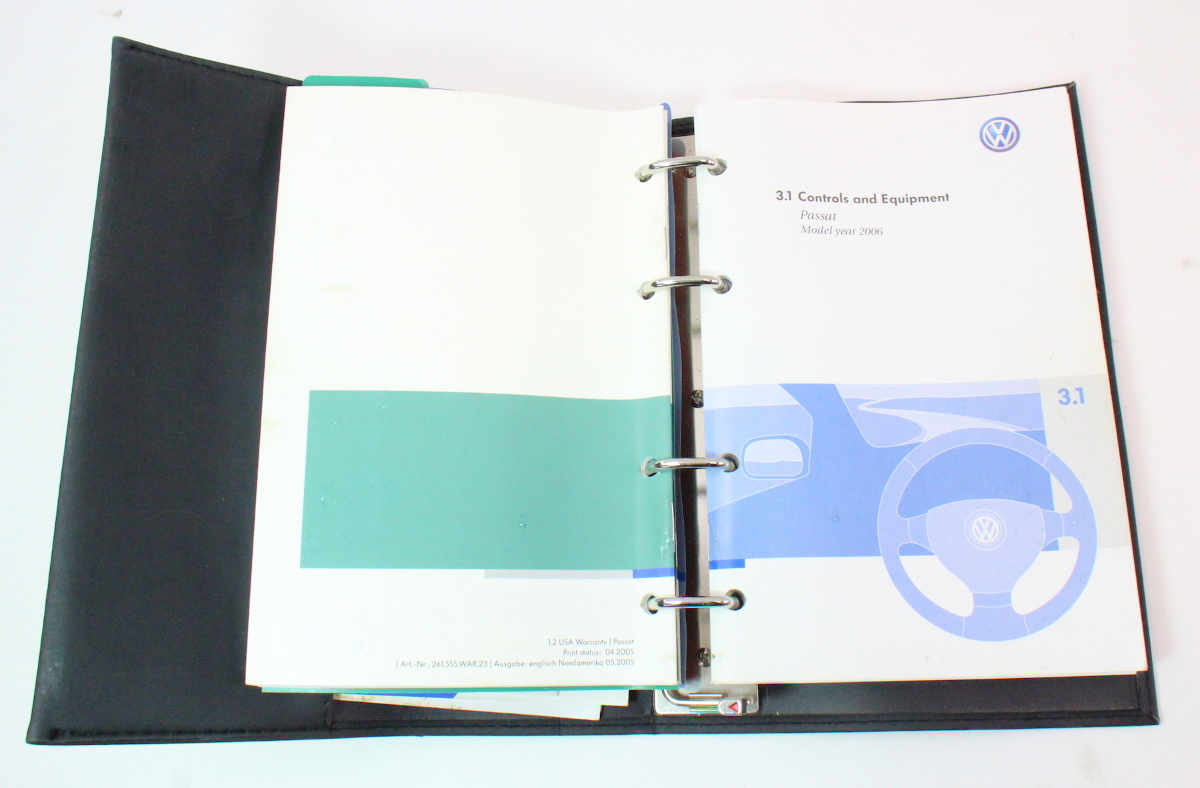 Owners Manual Book 2006 Vw Passat B6