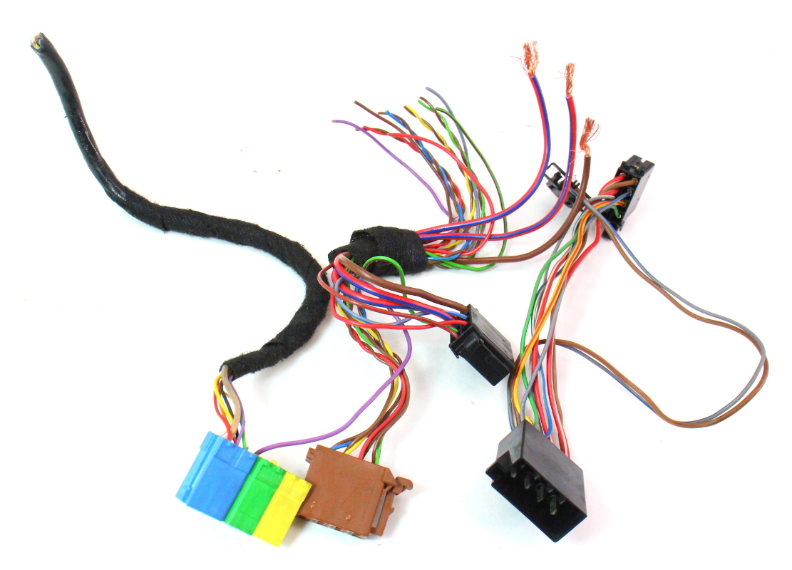Head Unit Wiring Harness Colors : Radio head unit wiring harness plugs pigtails vw