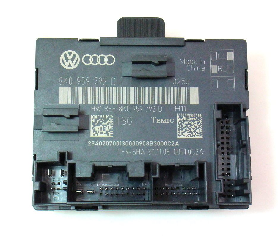 Rh front door control module 09 12 audi a4 b8 genuine for 01333 door control module