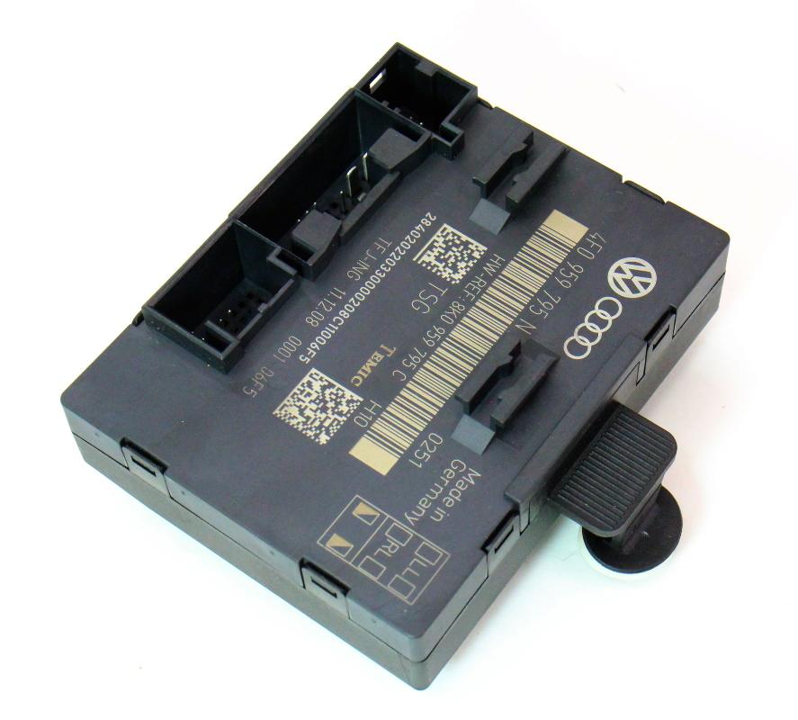 Rear door control module 09 12 audi a4 b8 genuine 4f0 for 01333 door control module