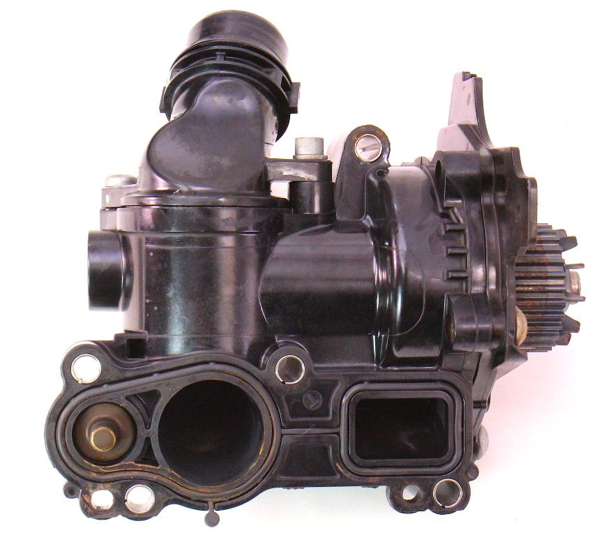 Vw Beetle Gti Engine: Water Pump Thermostat Housing VW Jetta GTI Audi Passat 2